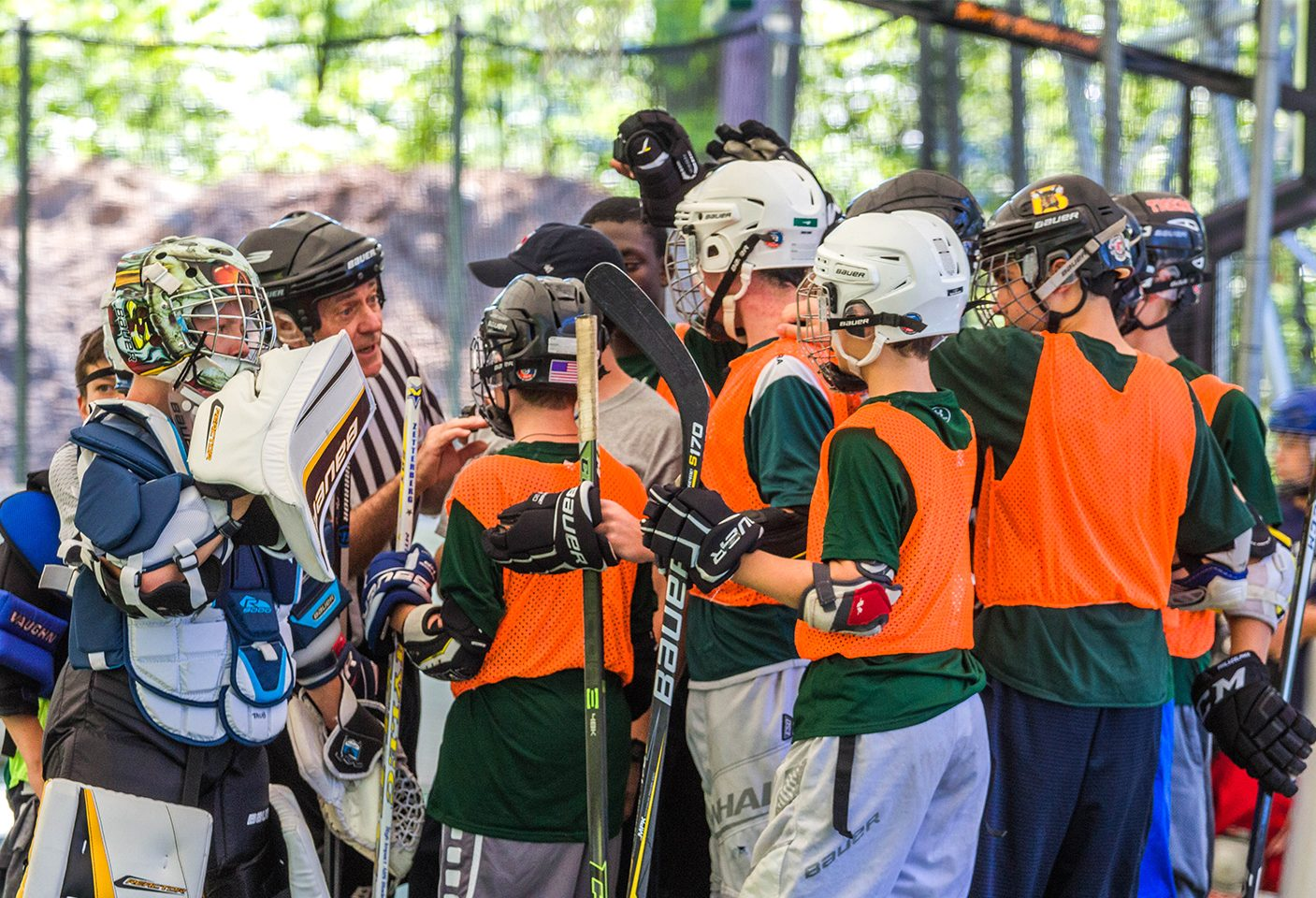 Hockey camp competition