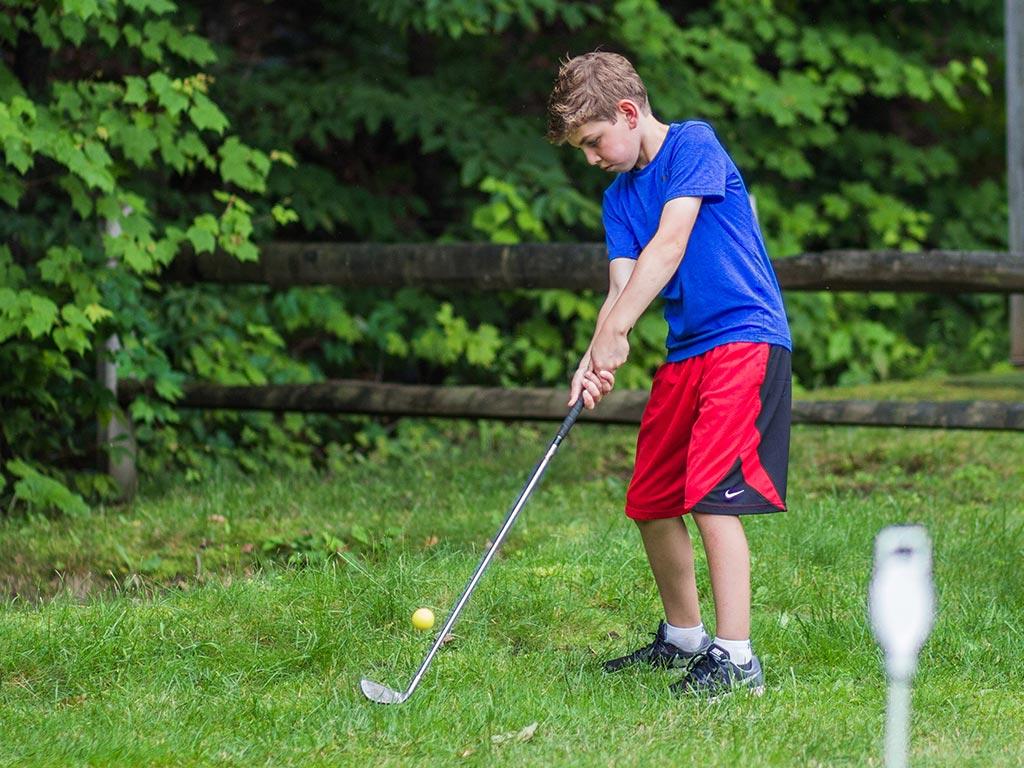 Summer camp golf activity