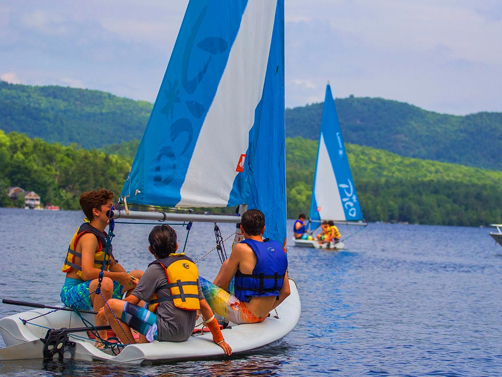 Sailing on Brant Lake in New York