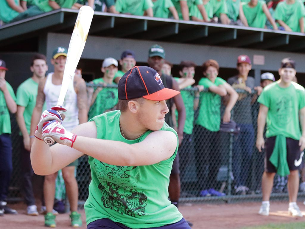 Softball at boys sports summer camp in New York