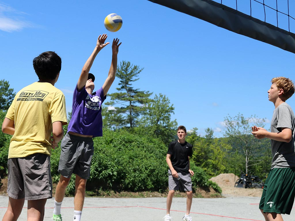 Volleyball at sports camp