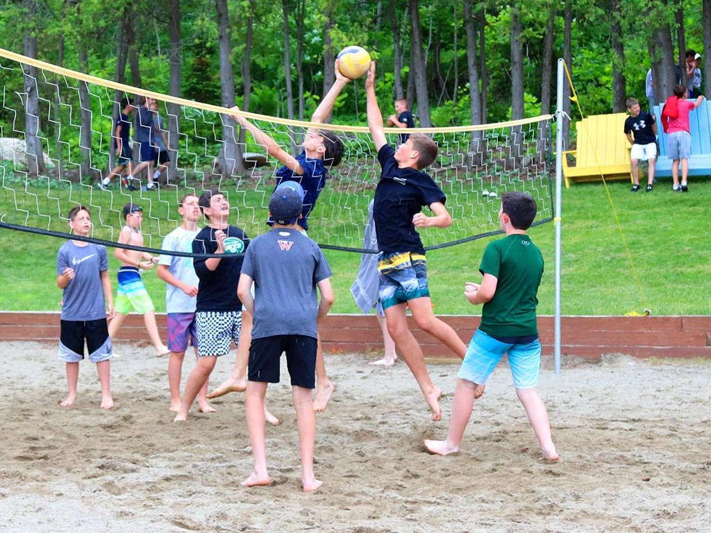 Beach volleyball at the waterfront