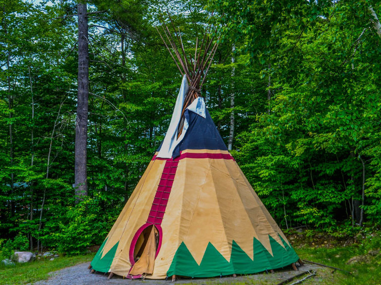 Camp outs at Brant Lake Summer Camp